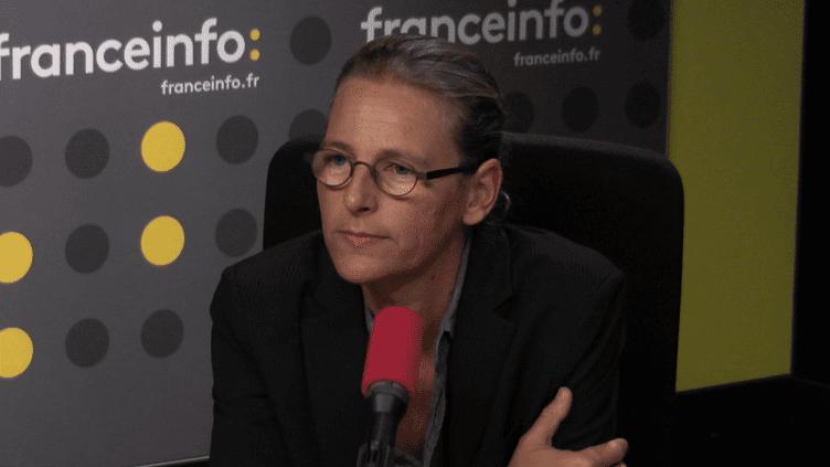 La directrice générale de Foodwatch,Karine Jacquemard, le 5 octobre 2017. (FRANCEINFO)