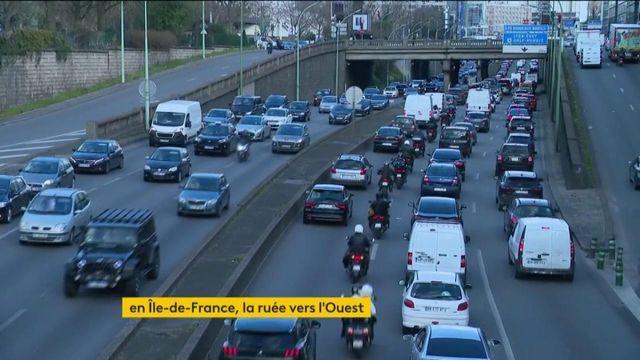 Covid-19 : les Franciliens quittent l'Île-de-France, affluence dans les gares et sur les routes