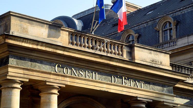 L'entrée du Conseil d'Étatà Paris, le 18 octobre 2018. (BERTRAND GUAY / AFP)
