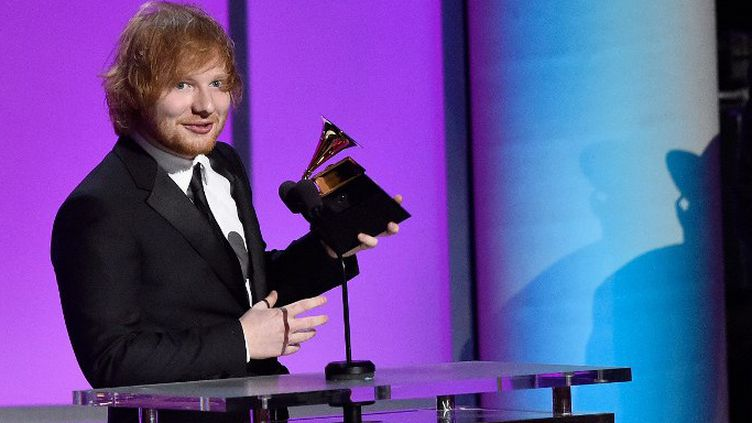 Ed Sheeran au Grammy Award 2015  (KEVORK DJANSEZIAN / GETTY IMAGES NORTH AMERICA / AFP)