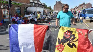 Ambiance avant le match France-Belgique à Tourcoing, le 9 juillet 2018. (Francois Flourens / MAXPPP)