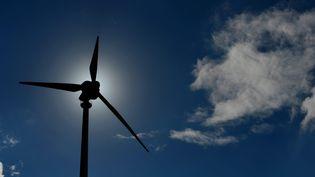 Une éolienne tourne àOsterode (Allemagne), le 15 août 2013. (FRANK MAY / PICTURE ALLIANCE / AFP)