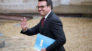 Le secrétaire d'Etat au Commerce extérieur, Thomas Thévenoud, tout juste nommé, arrive à l'Elysée, le 27 août 2014, pour le Conseil des ministres. (BERTRAND GUAY / AFP)