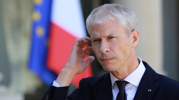 Le ministre de la Culture, Franck Riester, à l'Elysée, le 6 mai 2020. (LUDOVIC MARIN / POOL)