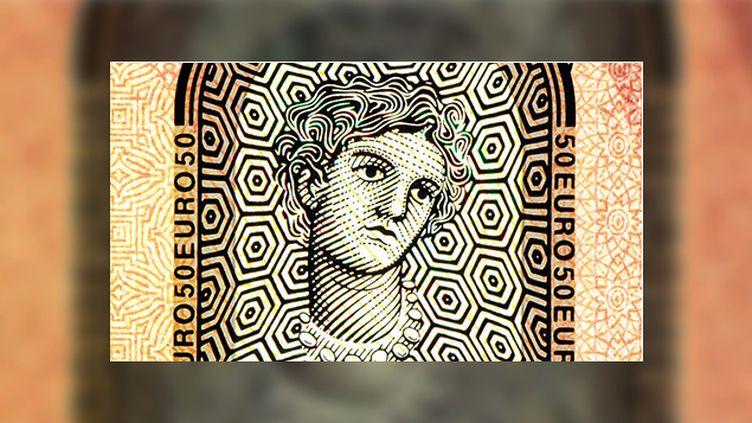 (La déesse Europa, motif sur les nouveaux billets de 50 euros. © Banque centrale européenne)