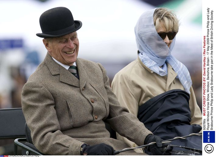 Le prince Philip et lady Brabourne, lors du Royal Windsor Horse Show, le 17 mai 2009. (DAVID HARTLEY / REX / SIPA)