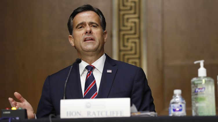 Le directeur du renseignement américain, John Ratcliffe, lors de son audition devant le Sénat, à Washington (Etats-Unis) le 5 mai 2020 (ANDREW HARNIK / POOL)