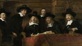 """""""Le Syndic de la guilde des drapiers"""" de Rembrandt, 1662 (détail).  (Rijksmuseum)"""