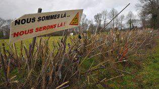 """La """"zone à défendre"""" deNotre-Dame-des-Landes (Loire-Atlantique), le 9 janvier 2018. (LOIC VENANCE / AFP)"""