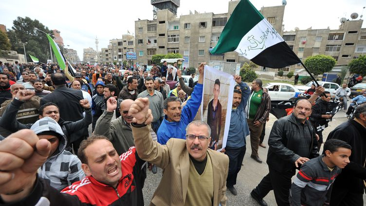 Manifestations à Port-Saïd (Egypte), le 4 mars 2013. (AFP)