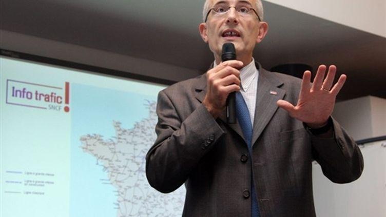 Guillaume Pepy, le 20 février 2008 au conseil d'administration de la SNCF. (© AFP)