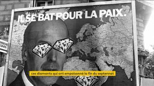Une affiche électorale de Valéry Giscard d'Estaing en 1981 détournée (FRANCEINFO)