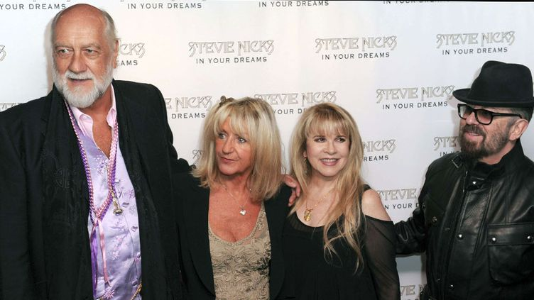 Christine McVie, Stevie Nicks, Dave Stewart et Mick Fleetwood, à Londres en septembre 2013  (Gary Mitchell / Landm / NEWSCOM / SIPA)