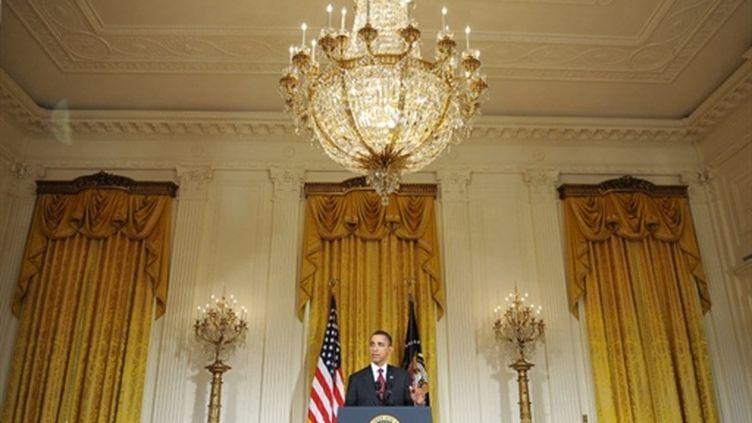 Obama lors de son allocution sur la Libye (18/3/2011) (AFP/MANDEL NGAN)