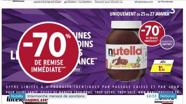Nutella : Intermarché menacé de sanctions