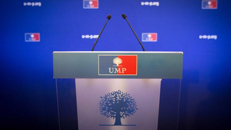 Le siège de l'UMP, à Paris, le 25 novembre 2012. (REVELLI-BEAUMONT / SIPA)
