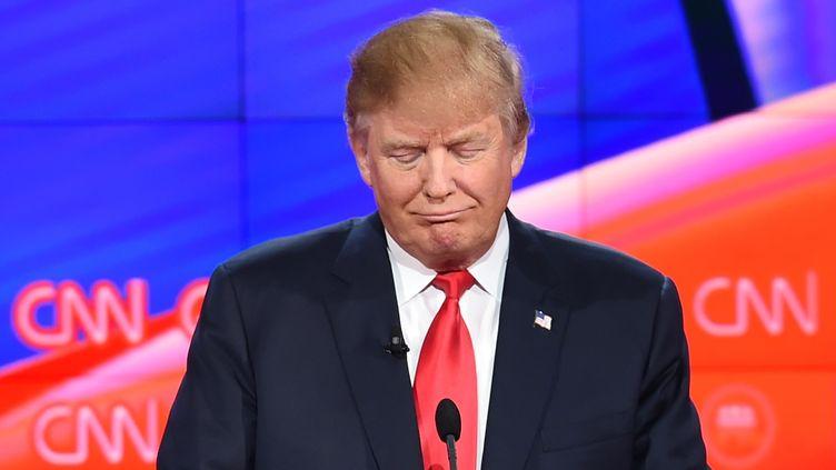 Donald Trump, le 15 décembre 2015, lors d'un débat pour la primaire des républicains à Las Vegas. (ROBYN BECK / AFP)