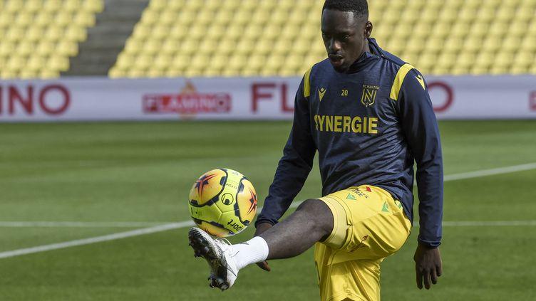 Jean-Kévin Augustin, attaquant du FC Nantes le 18 octobre 2020. (SEBASTIEN SALOM-GOMIS / AFP)