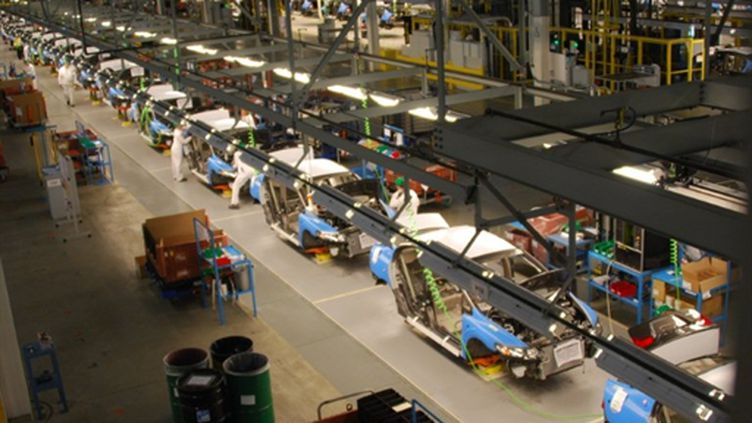 Ligne d'assembalge Honda aux USA en mars 2011 (AFP. M.Oberman)