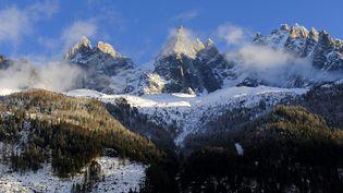 Le mont Blanc, vu de Chamonix, en Haute-Savoie. (FRÉDÉRIC SOREAU / AFP)