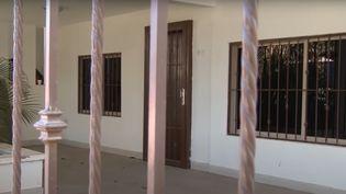 """Capture d'écran de la maison d'""""El Chapo"""" à Culiacàn, au Mexique, filmée en 2014 par un reporter de CNN. (CNN)"""