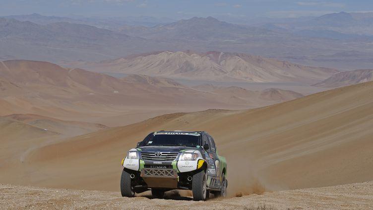Le pilote saoudien Yazeed Alrajhi a remporté la 8e étape du Dakar 2015, dimanche 11 janvier.  (FREDERIC LE FLOC H / DPPI MEDIA)