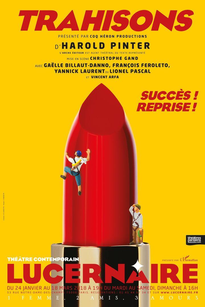 """""""Trahisons"""" : l'affiche du Lucernaire (2018)  (Le Lucernaire)"""