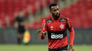 Gerson, la nouvelle recrue brésilienne de l'OM, sous les couleurs de Flamengo le 22 mai 2021. (THIAGO RIBEIRO / AGIF)