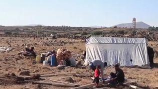 Des réfugiés ayant fui les combats en Syrie. (Capture d'écran France 2)