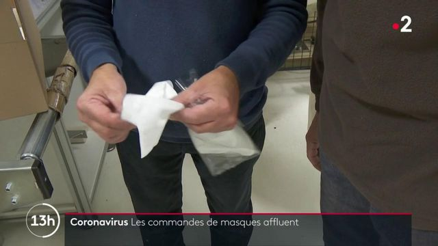 Coronavirus : les commandes de masques affluent