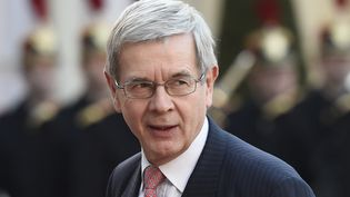 L'ancien président du directoire de PSA Peugeot-Citroën Philippe Varin le 10 avril 2015 dans la cour de l'Elysée (Paris). (ALAIN JOCARD / AFP)
