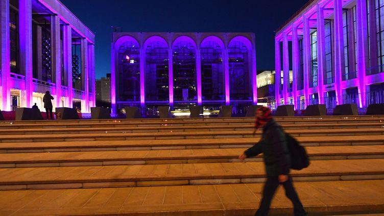 Le Metropolitan Opera situé au Lincoln Center, fermé en raison de la pandémie de Covid-19, le 7 janvier 2021 (ANGELA WEISS / AFP)
