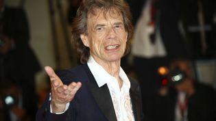 """Mick Jagger, le chanteur des Rolling Stones, le 7 septembre à la Mostra de Venise, où il venait présenter le film """"The Burnt Orange Heresy"""". (JOEL C RYAN/AP/SIPA / SIPA)"""