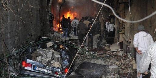 Attentat à Damas dans un quartier chrétien et druze (novembre 2012) (SANA / AFP)