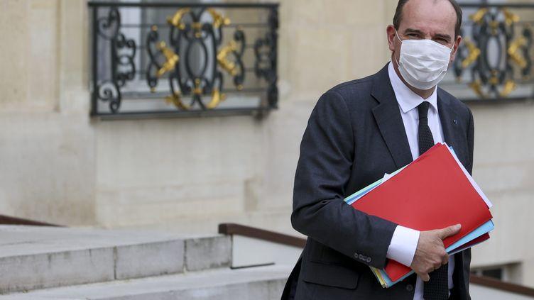 Le Premier ministre, Jean Castex, à la sortie du Conseil des ministres à l'Elysée, à Paris, le 28 avril 2021. (MAXPPP)