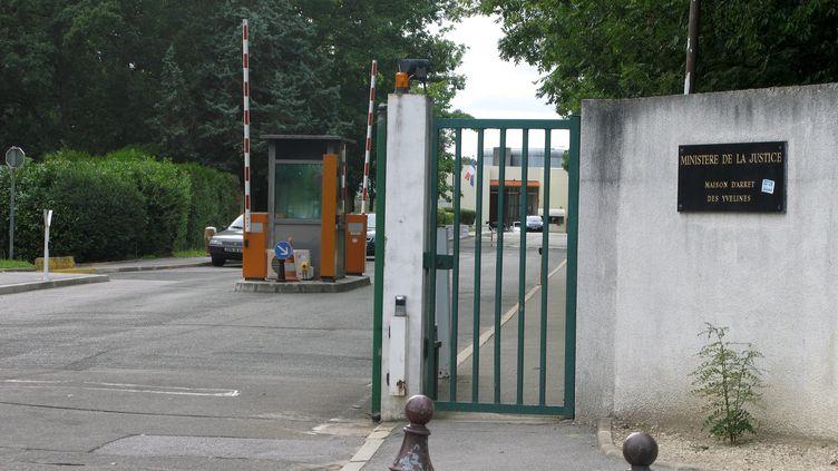 L'entrée de la prison de Bois-d'Arcy (Yvelines), le 11 août 2008. (MAXPPP)