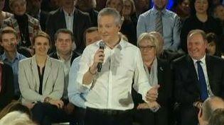 Bruno Le Maire, député du parti Les Républicains a réuni plusieurs centaines de militants à Vesoul (Haute-Saône)le 23 février 2016 (FRANCETV INFO)