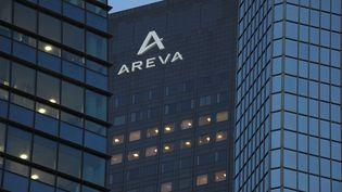 Le siège d'Areva à la Défense (Hauts-de-Seine), pris en photo le 4 mars 2015. (ERIC PIERMONT / AFP)