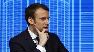 Emmanuel Macron, le 23 février 2017 à Paris (FRANCOIS MORI/AP/SIPA / AP)