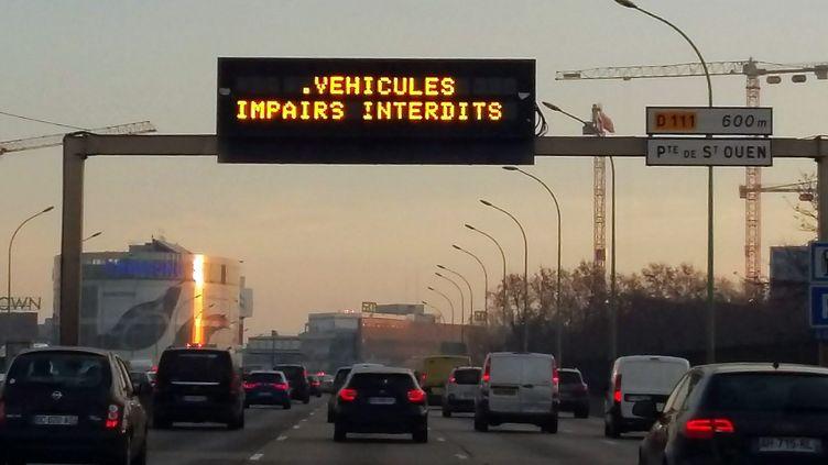 Circulation alternée à Paris, en décembre 2016. (LP/ AUDUREAU AURELIE / MAXPPP)