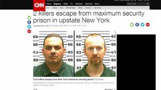 (Deux détenus s'évadent de la prison la mieux gardée de l'Etat de New York © capture d'écran/CNN)