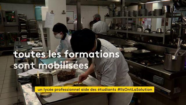 Au Havre, un lycée professionnel vient en aide aux étudiants