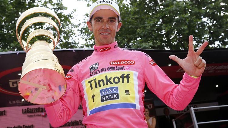 Alberto Contador (Tinkoff-Saxo) en route vers le triplé sur les grands tours ? (LUK BENIES / AFP)
