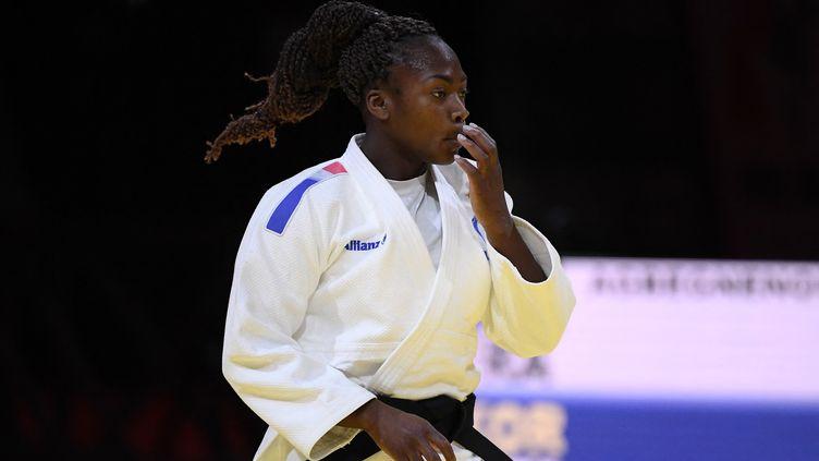 clarisse Agbegnenou a remporté son cinquième titre de championne du monde à Budapest. (ATTILA KISBENEDEK / AFP)