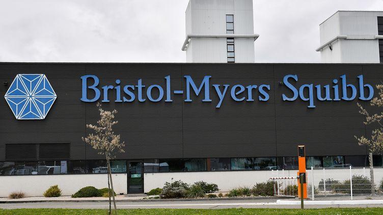 Le site du géant pharmaceutique Bristol-Myers-Squibb à Agen, dans le Lot-et-Garonne, le 4 janvier 2019. (GEORGES GOBET / AFP)