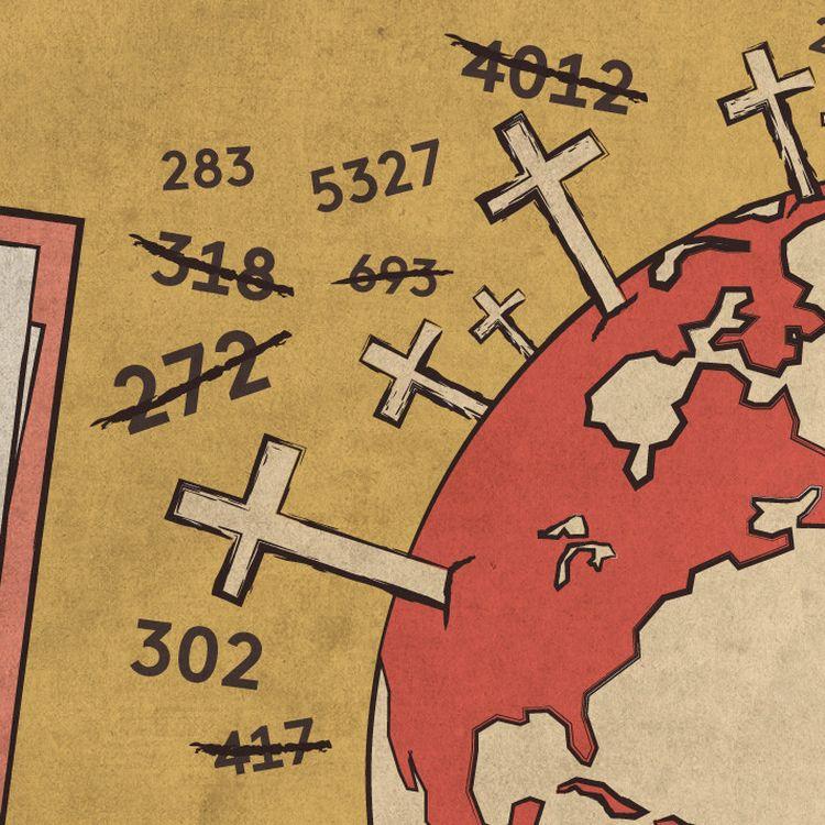 Un an après le début de la pandémie, il demeure impossible de disposer d'un bilan mondial précis du nombre de victimes. (ELLEN LOZON / FRANCEINFO)