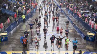 Le marathon de Boston en 2018 (RYAN MCBRIDE / AFP)