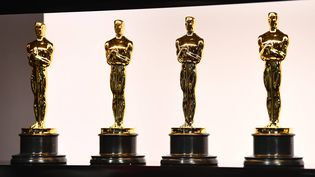 Statuettes d'Oscars dans les coulisses de la 92e cérémonie, le 9 février 2020 au Théâtre Dolby de Los Angeles. (HANDOUT PHOTO-USA TODAY NETWORK / SIPA / SIPA USA)