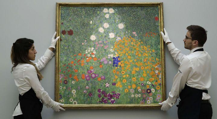 """""""Jardin Fleuri"""" Gustav Klimt  (Matt Dunham/AP/SIPA)"""