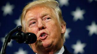 Donald Trump s'exprime sur sa réforme fiscale, le 30 août 2017, à Springfield (Missouri). (KEVIN LAMARQUE / REUTERS)